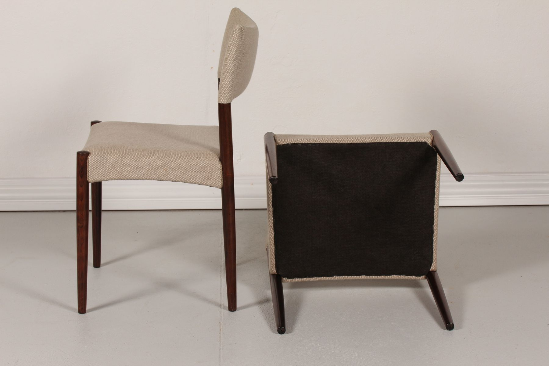Chairs in Rosewood and Wool by Aksel Bender Madsen and  : chairs in rosewood and wool by aksel bender madsen and ejner larsenin 1960s set of 6 4 from www.pamono.com size 1800 x 1200 jpeg 100kB