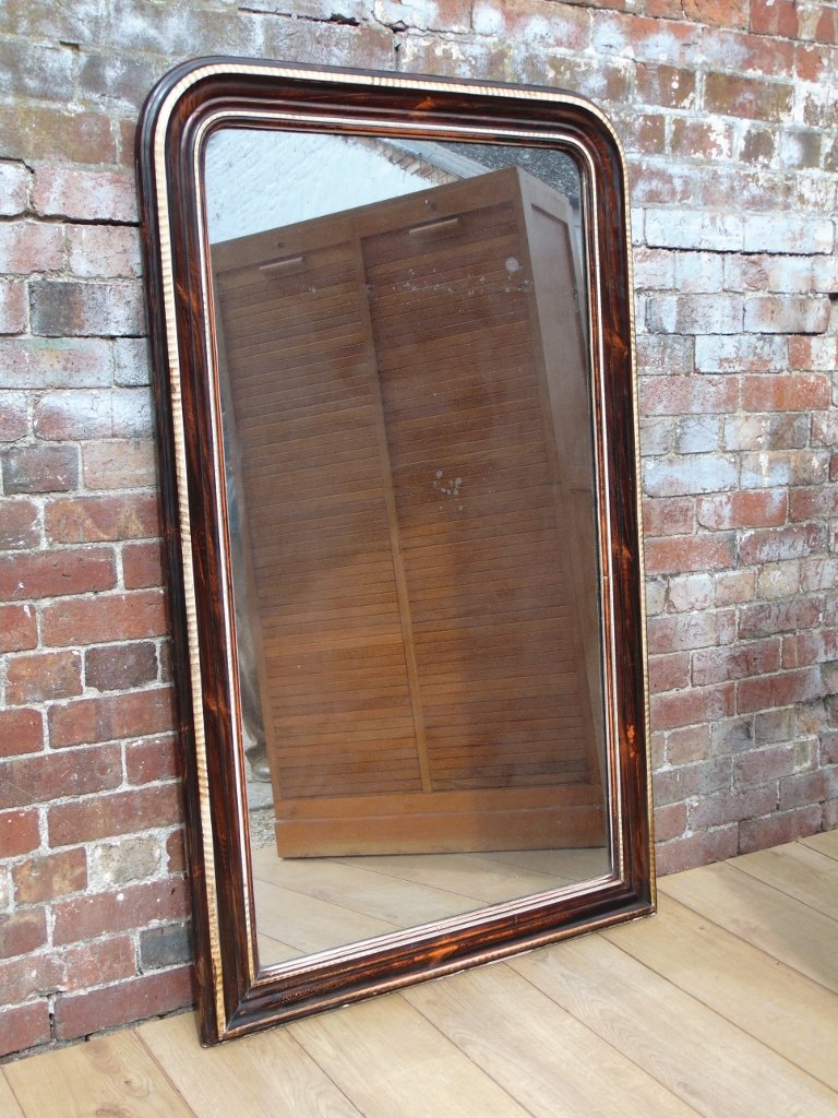 Antique mercury glass wall mirror for sale at pamono for Glass mirrors for walls