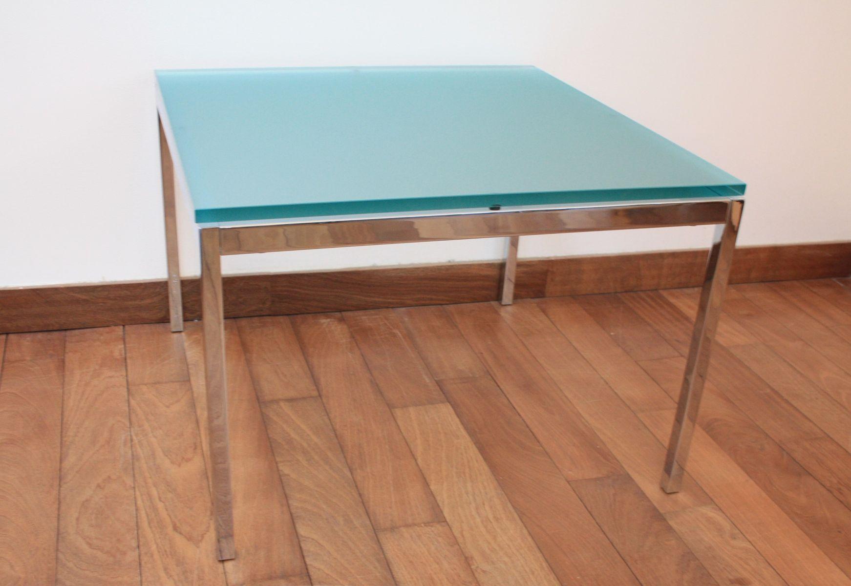 Tisch aus glas chrom von florence knoll bassett f r for Tisch aus glas
