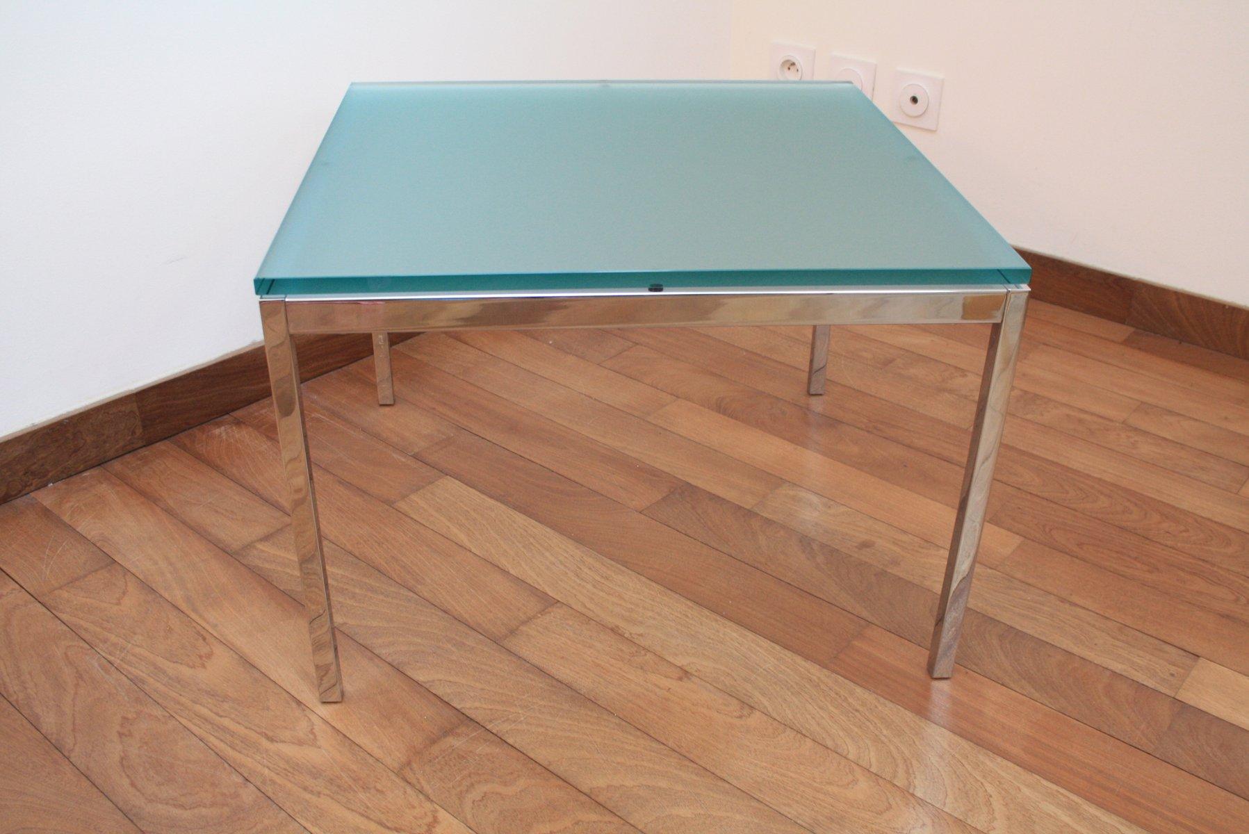 tisch aus glas chrom von florence knoll bassett f r. Black Bedroom Furniture Sets. Home Design Ideas