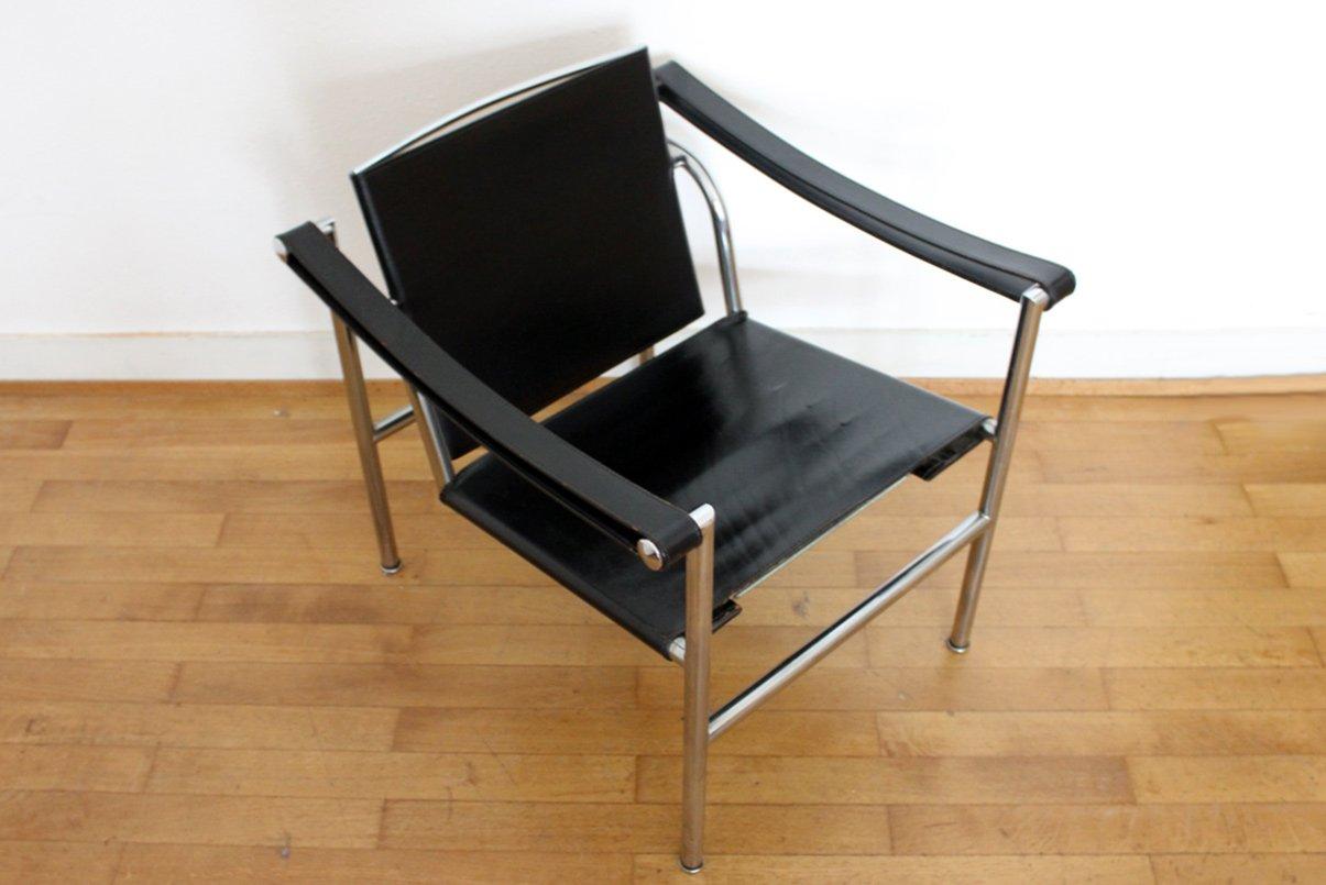 Lc1 chair by le corbusier pierre jeanneret charlotte - Chaise lc1 le corbusier ...