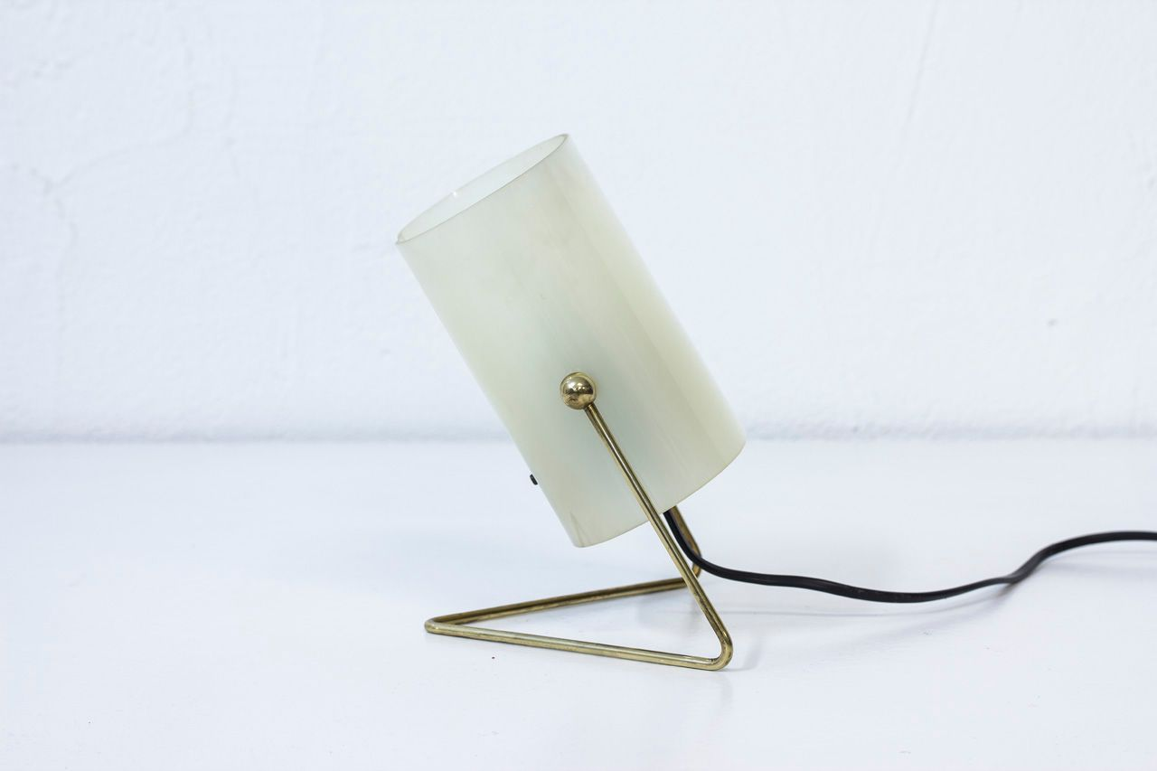 Mid Century Finnish Brass U0026 Acrylic Table Lamp From Korumo