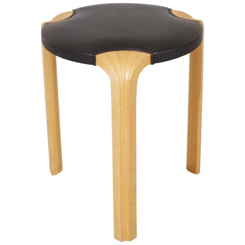 X602 Fan Leg Stool By Alvar Aalto For Artek 1954 For Sale