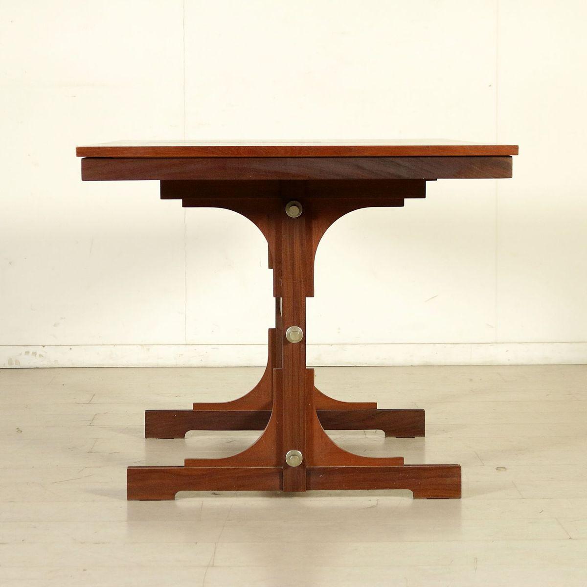 Italian Teak Veneer Amp Solid Wood Extendable Dining Table