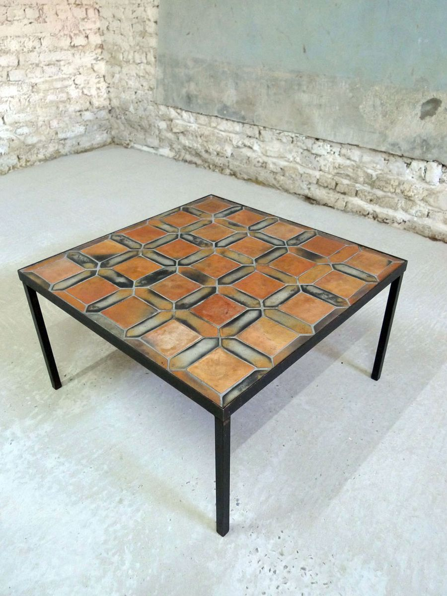 Coffee table by roger capron for vallauris 1950s for sale - Point p vallauris ...