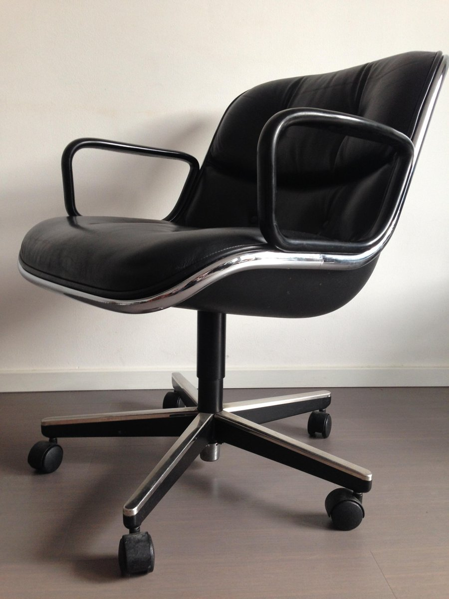 Vintage Desk Chair By Charles Pollock For Knoll For Sale