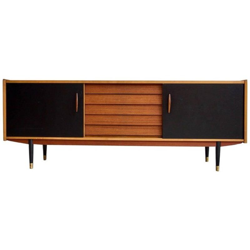 Langes vintage teak sideboard von hugo troeds bei pamono for Langes sideboard