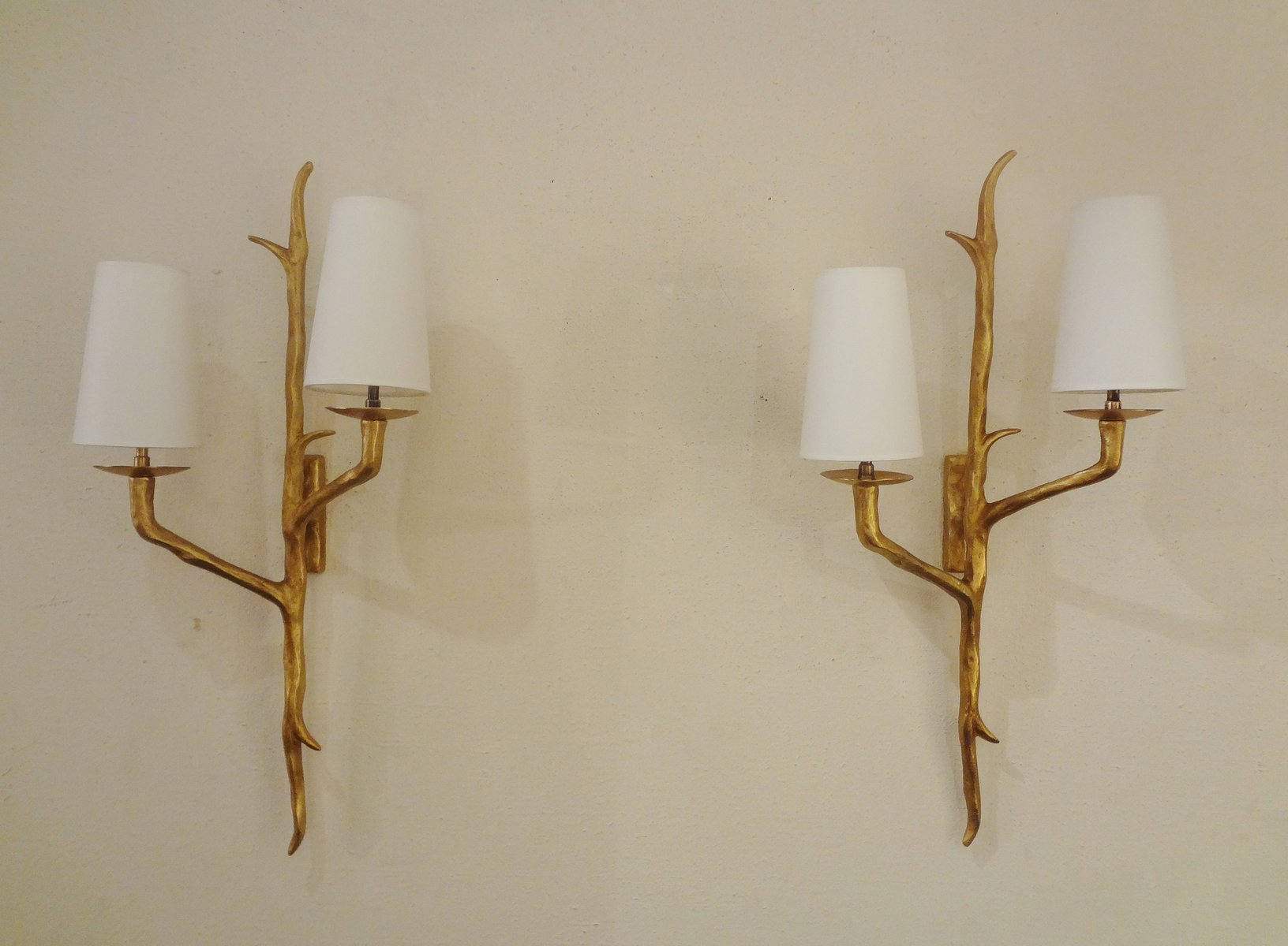 bronze wall sconces from maison arlus set of 3