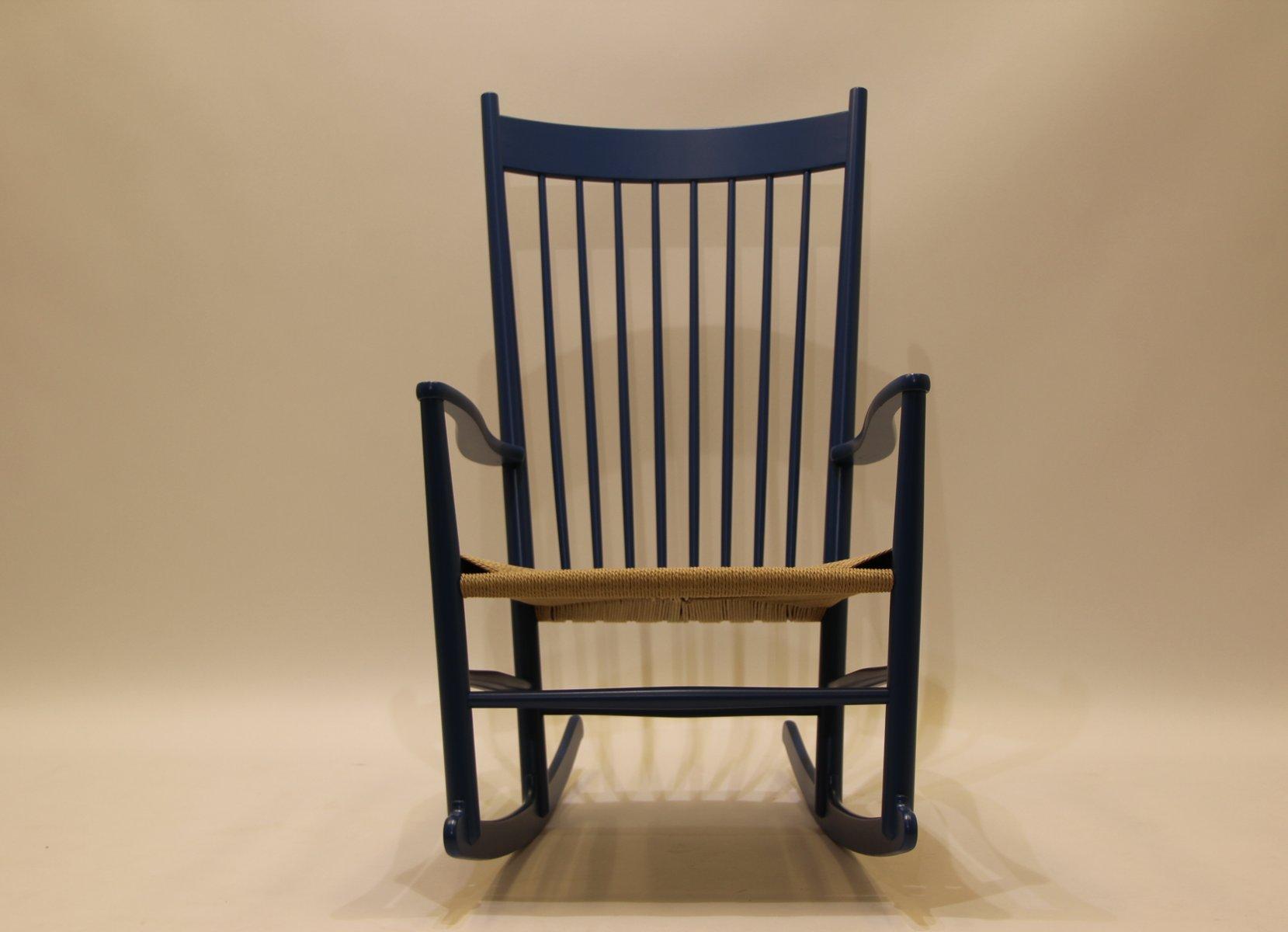 Vintage J16 Rocking Chair by Hans J Wegner for Kvist for sale at