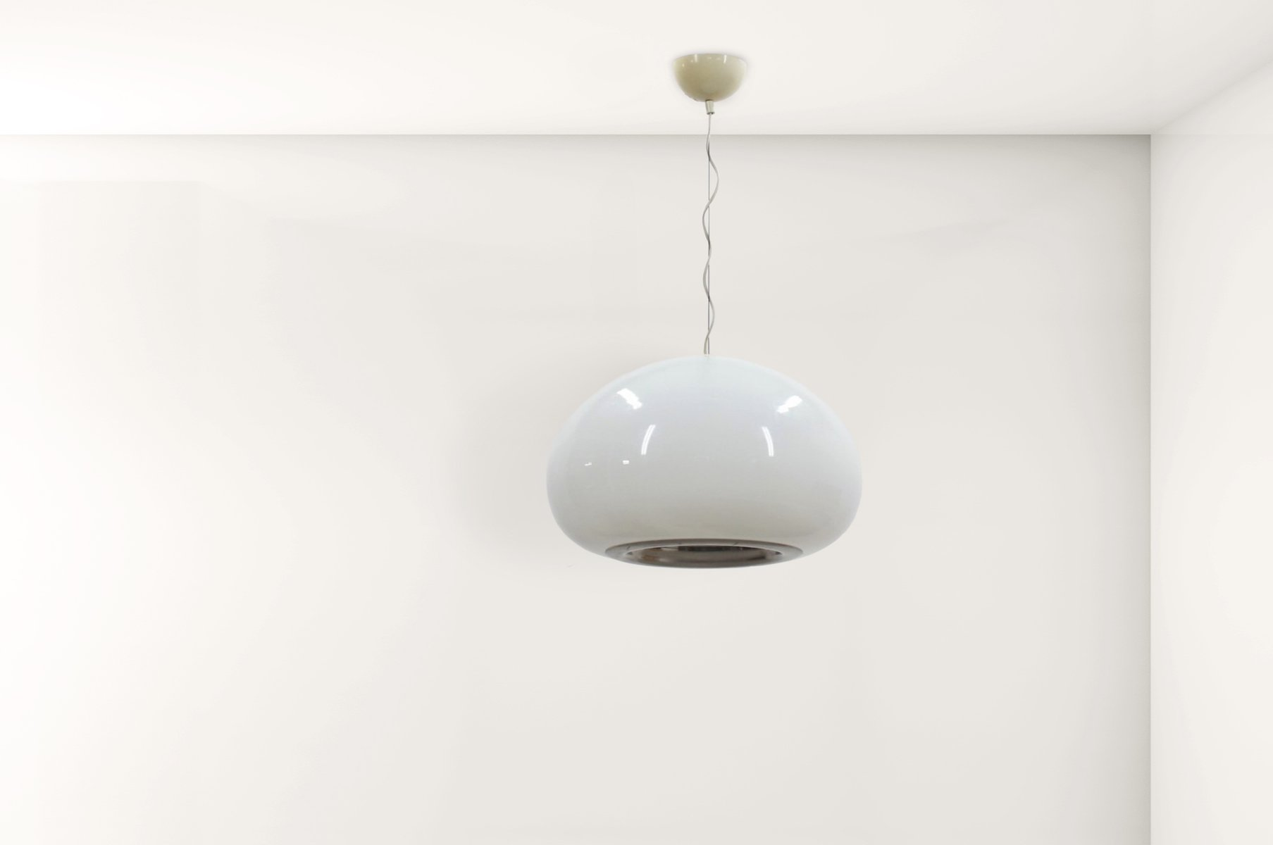 Black \u0026 White Pendant Lamp by the Castiglioni Brothers for Flos ...