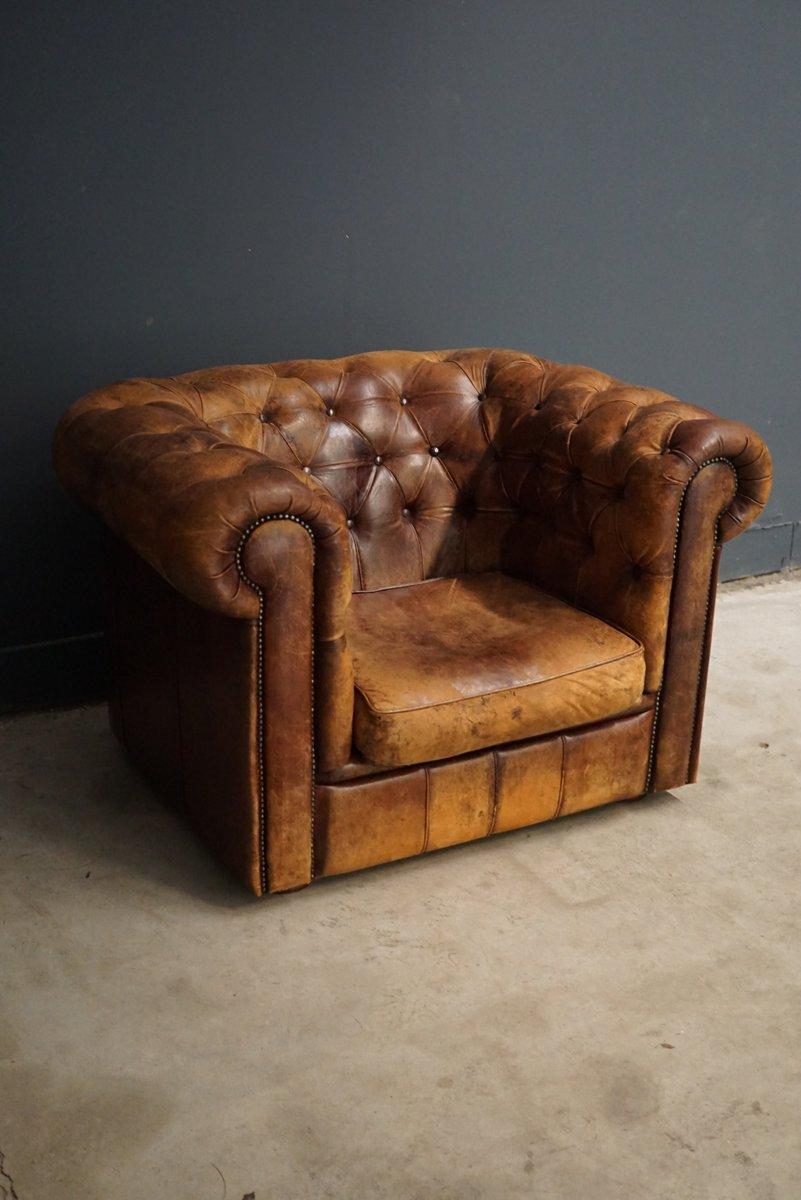 vintage chesterfield leder sessel bei pamono kaufen. Black Bedroom Furniture Sets. Home Design Ideas