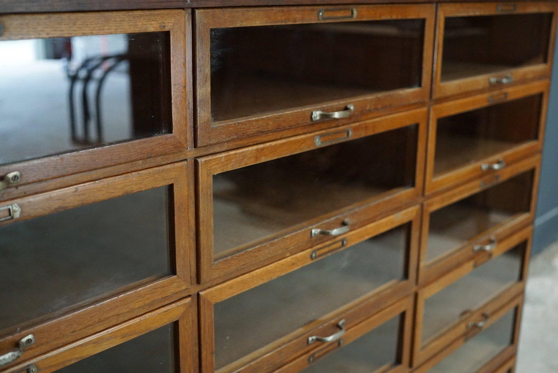 Vintage oak haberdashery shop cabinet 1930s for sale at for 1930s kitchen cabinets for sale
