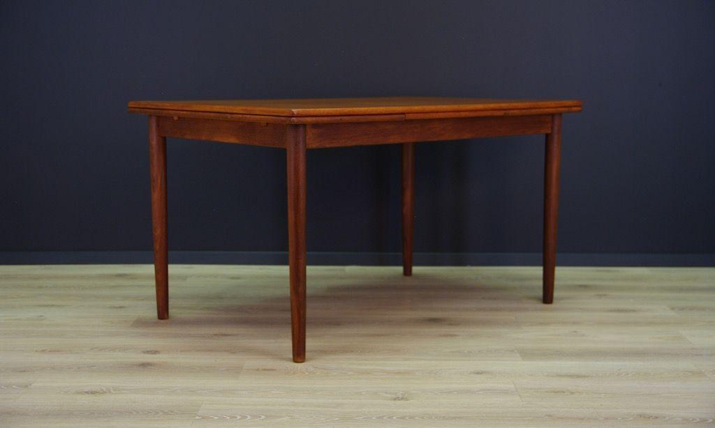 Danish Vintage Extendable Teak Veneer Dining Table From
