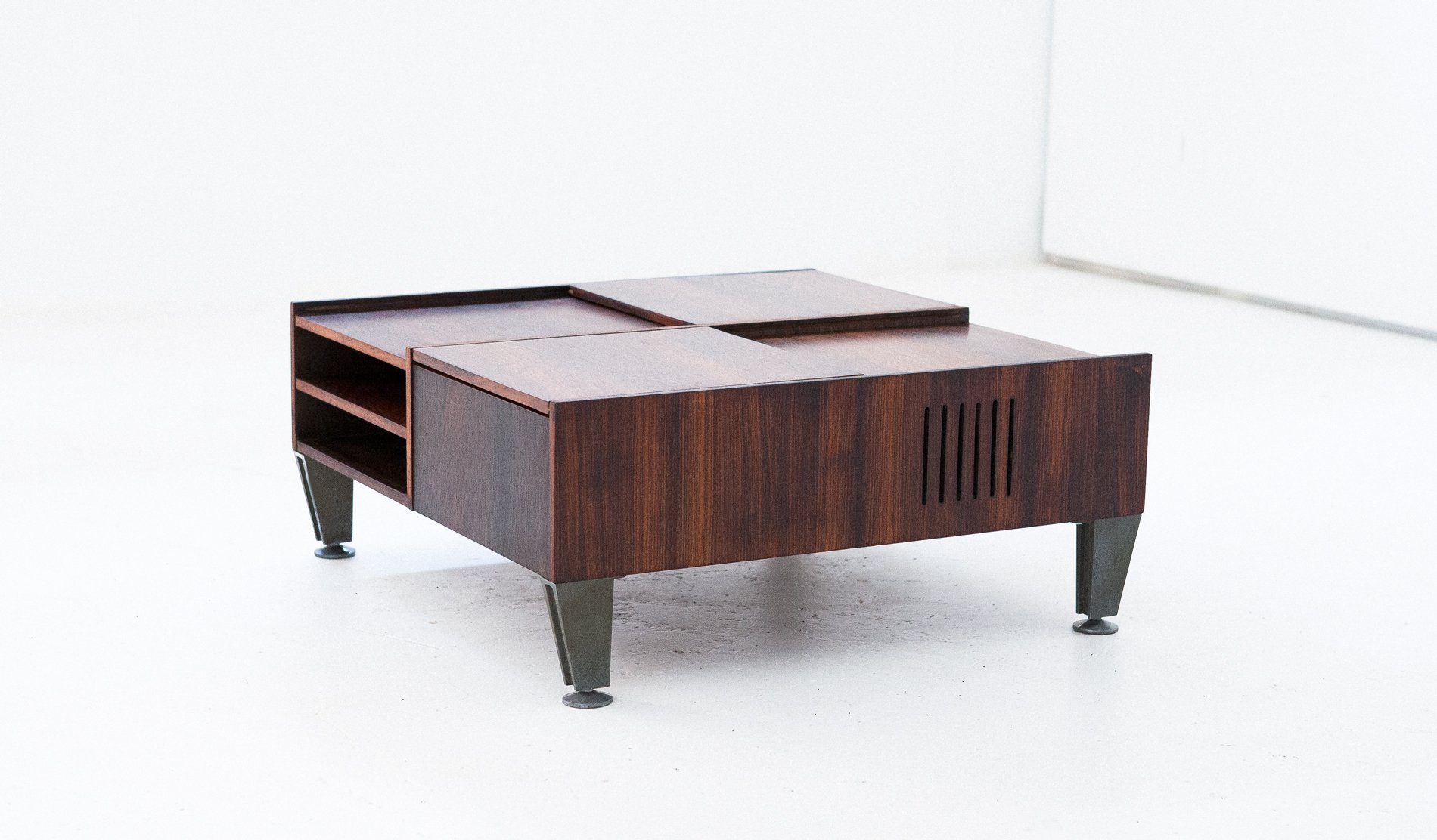 Multifunctional Italian Modern Rosewood Coffee Table 1960s for