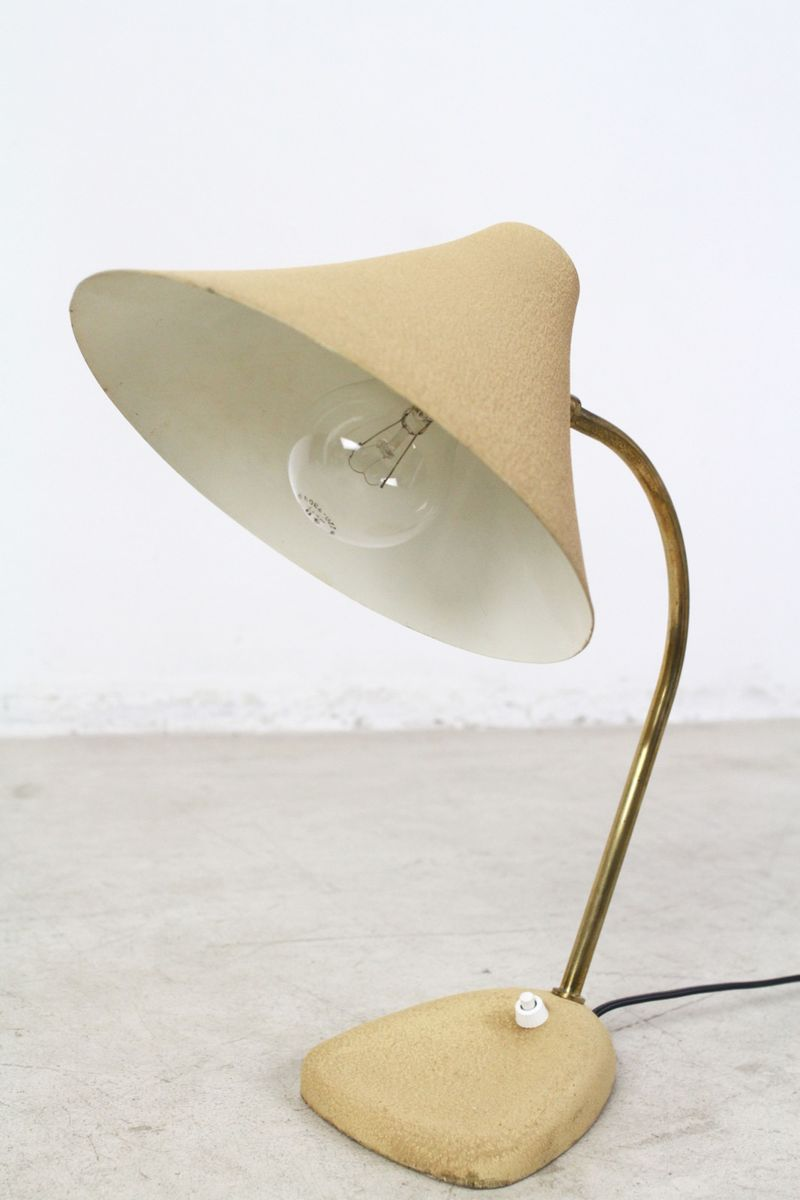 Austrian Beige Table Lamp, 1950s