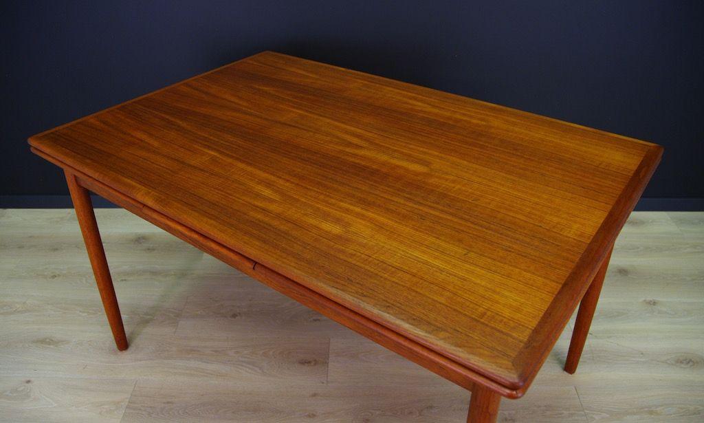 Danish Vintage Teak Dining Table For Sale At Pamono