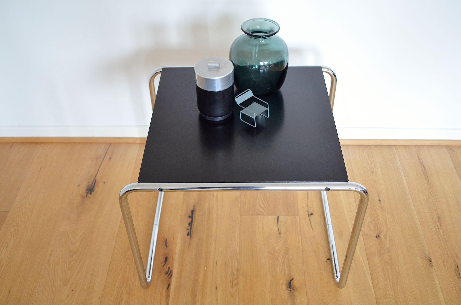 bauhaus beistelltisch von marcel breuer f r gavina bei. Black Bedroom Furniture Sets. Home Design Ideas