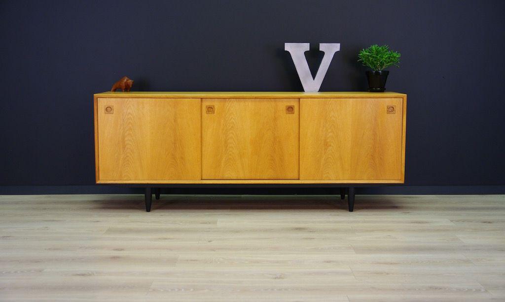 d nisches mid century sideboard mit esche furnier bei. Black Bedroom Furniture Sets. Home Design Ideas