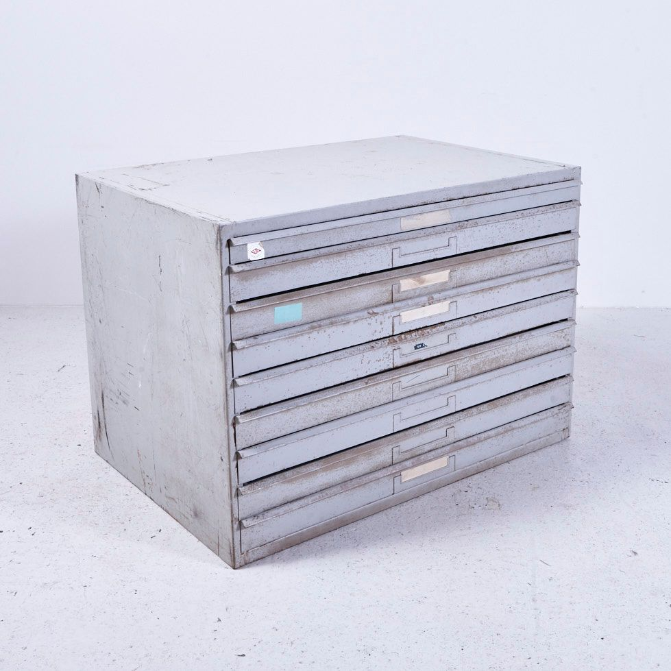 Vintage iron cabinet with drawers for sale at pamono for Kitchen drawers for sale