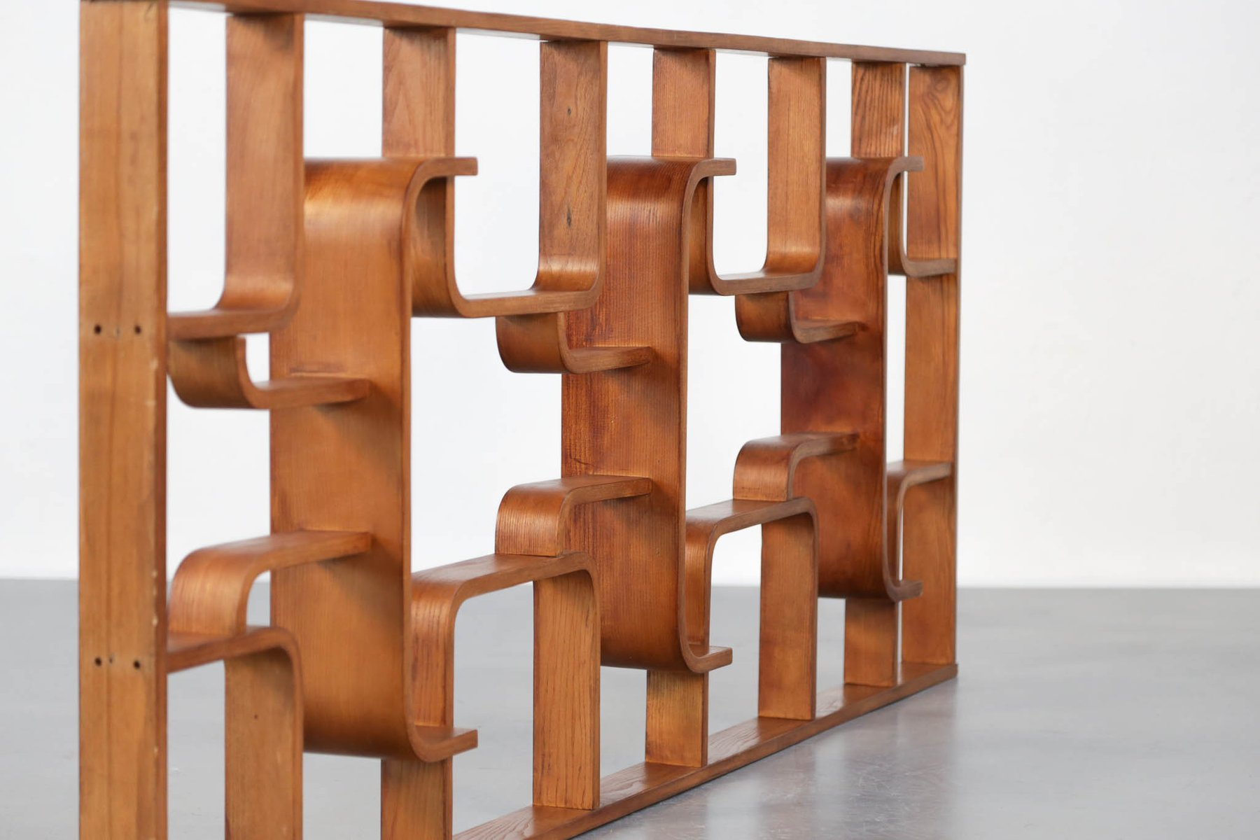 Vintage Plywood Room Dividers By Ludvik Volak For