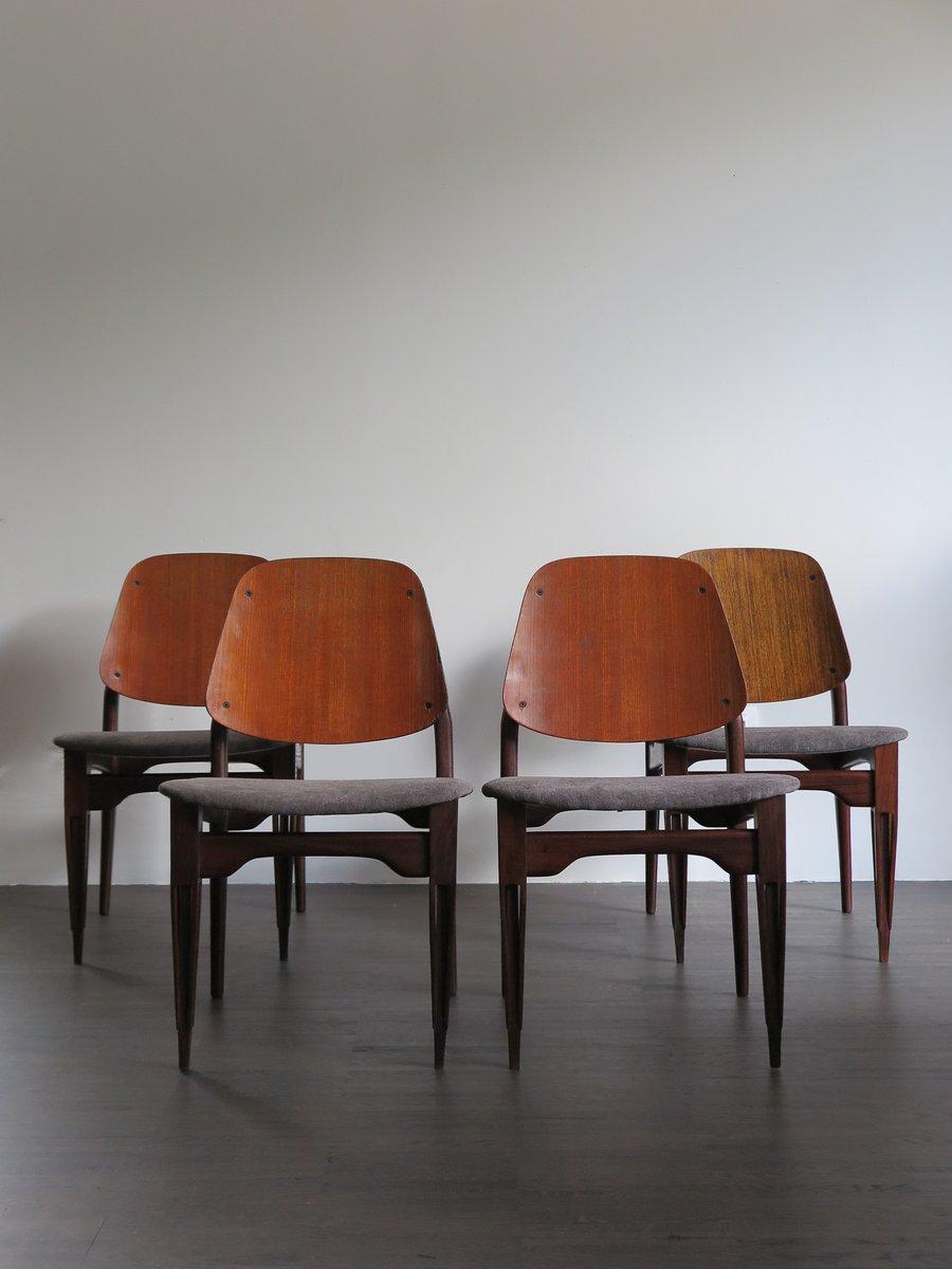 mid century esszimmerst hle von fratelli proserpio 4er. Black Bedroom Furniture Sets. Home Design Ideas