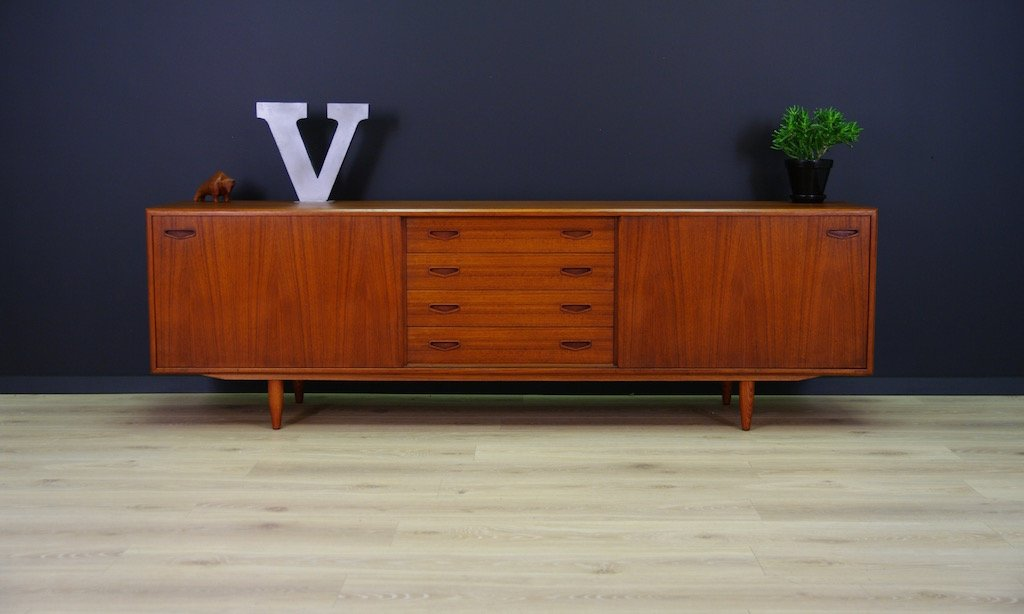 vintage teak veneer sideboard from clausen son for sale at pamono. Black Bedroom Furniture Sets. Home Design Ideas