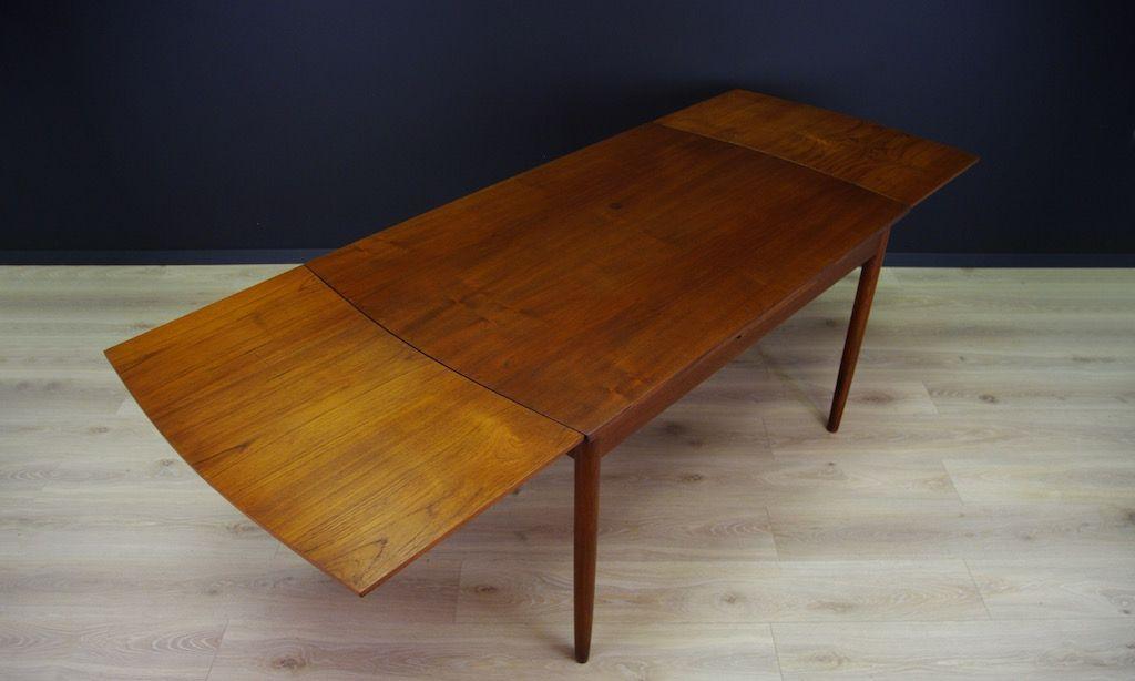 Vintage Danish Teak Veneer Dining Table for sale at Pamono : vintage danish teak veneer dining table 4 from www.pamono.co.uk size 1024 x 614 jpeg 112kB