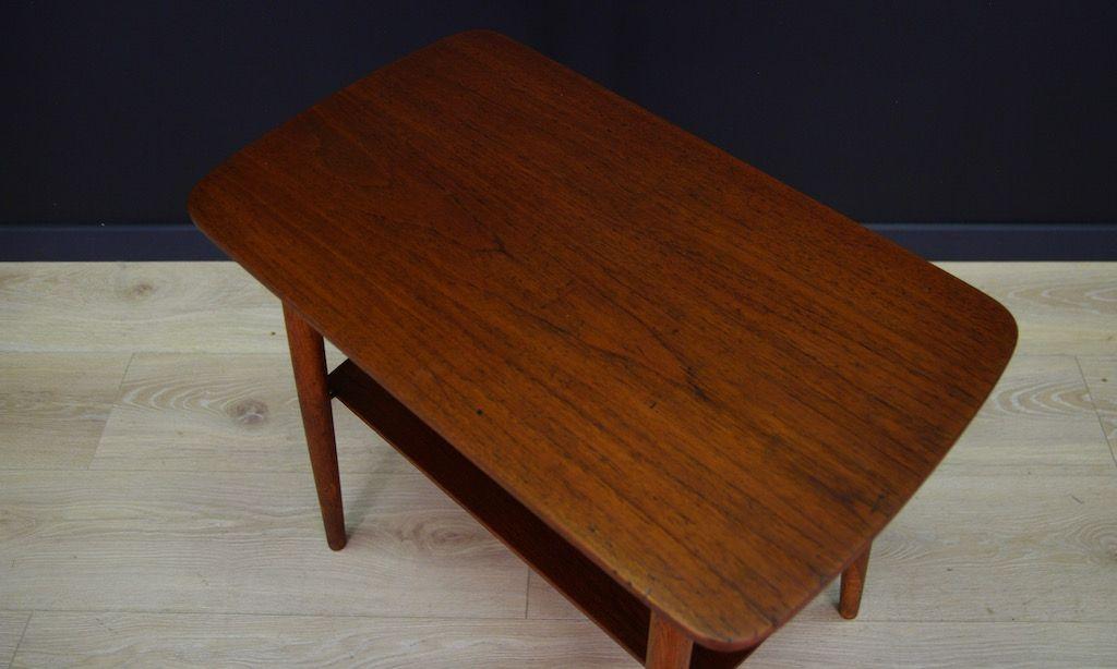 Vintage Danish Teak Veneer Coffee Table For Sale At Pamono