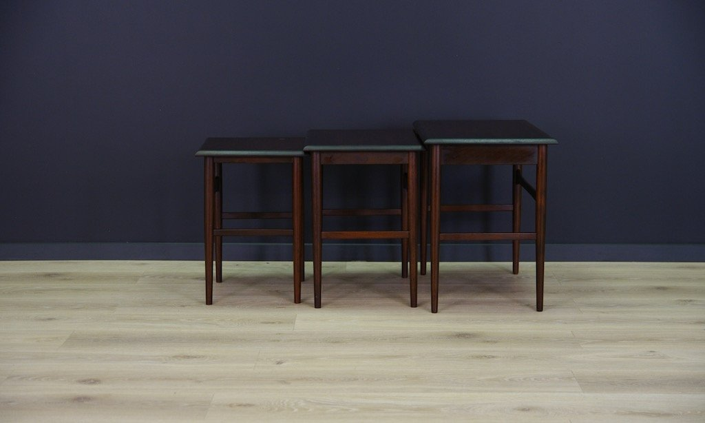Danish Rosewood Veneer Nesting Tables Set For Sale At Pamono
