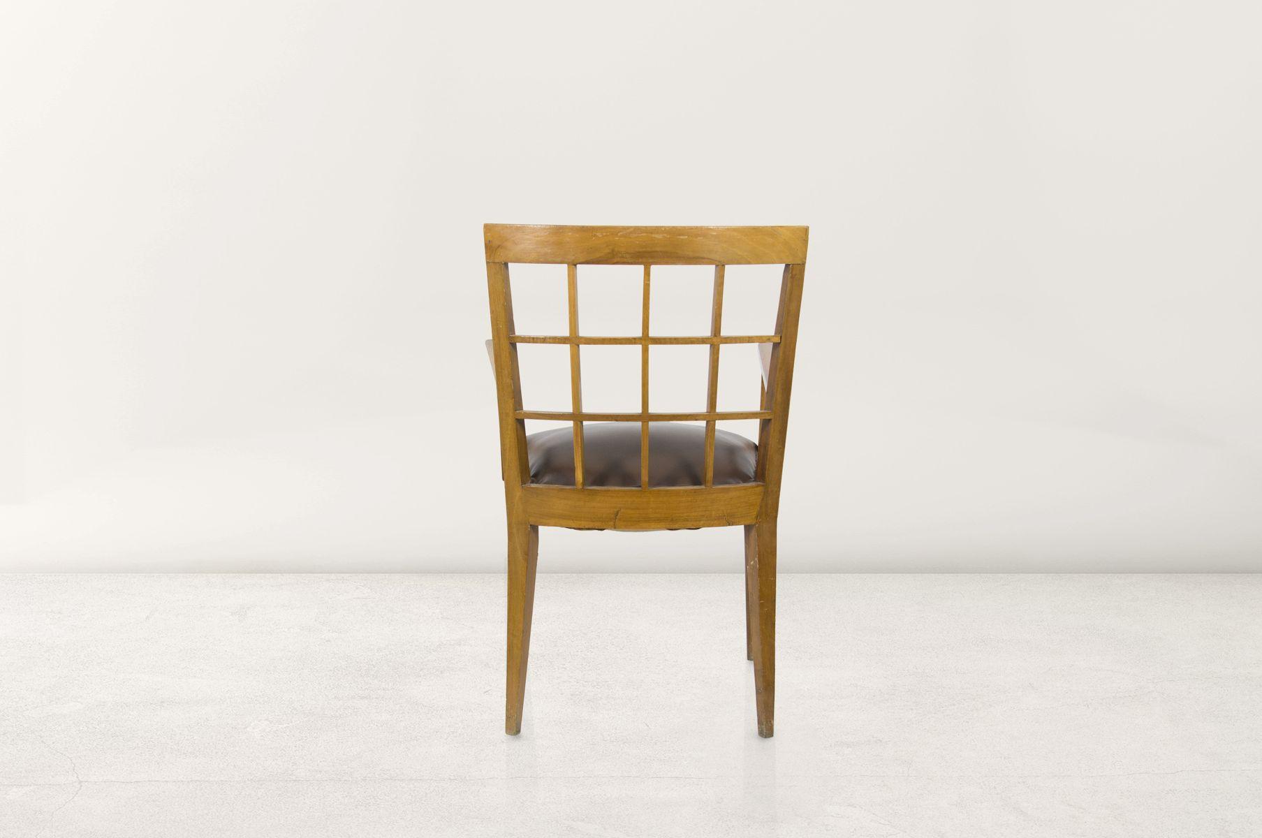 Sessel aus walnuss und leder 1940er bei pamono kaufen for Sessel aus leder