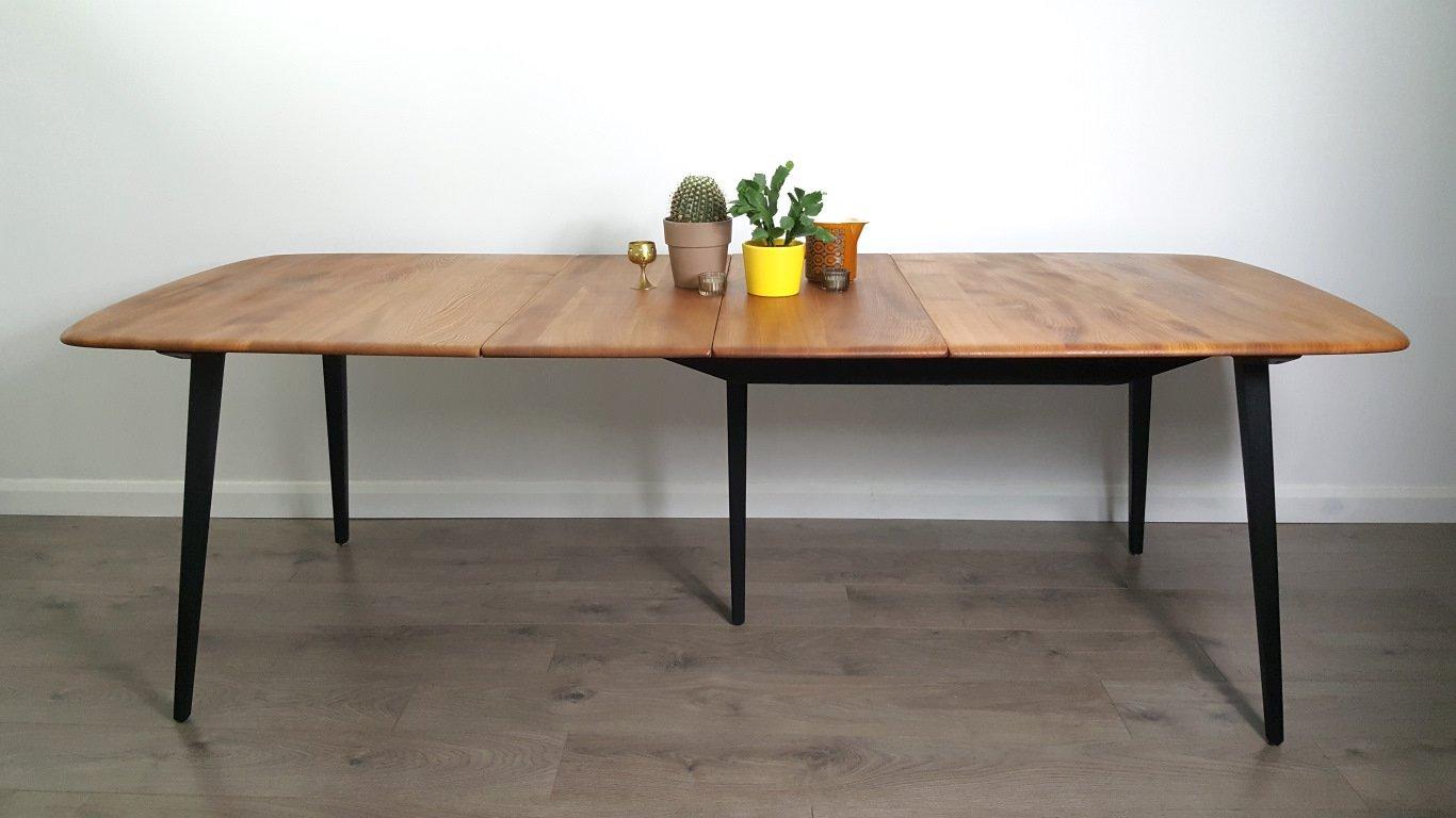 ausziehbarer vintage esstisch aus ulme von lucian ercolani f r ercol bei pamono kaufen. Black Bedroom Furniture Sets. Home Design Ideas