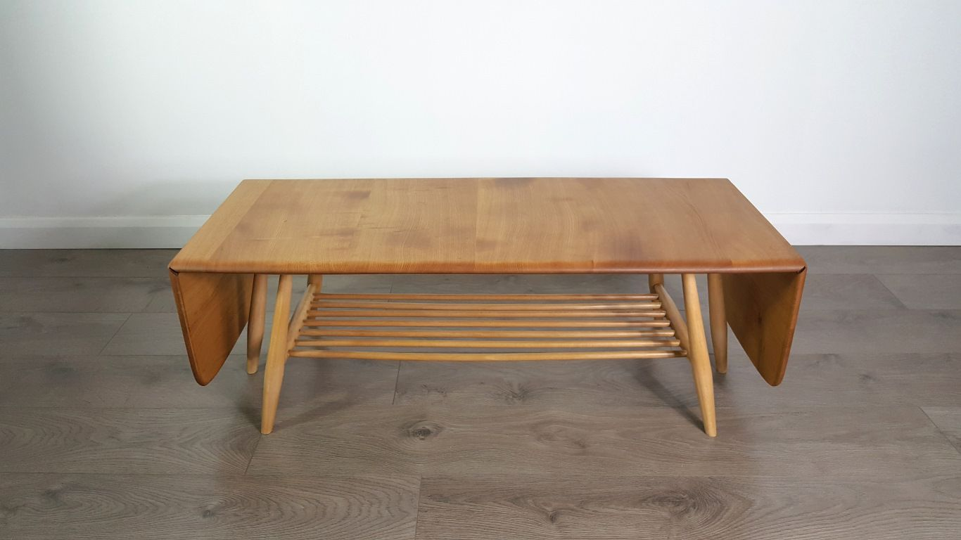 Extendable coffee table by lucian ercolani for ercol 1960s for sale at pamono - Telescopic coffee table ...