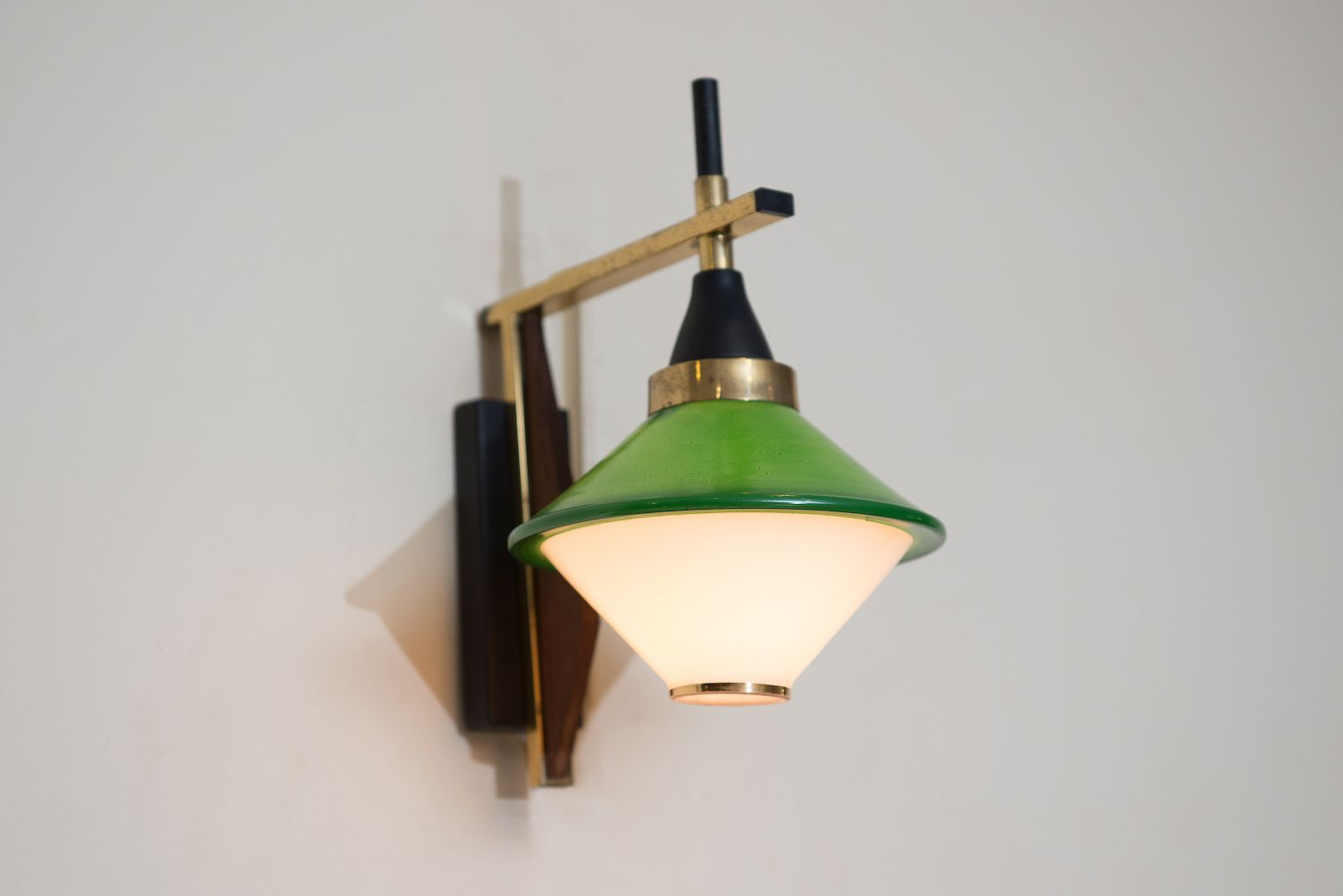 Wall Sconces Mid Century : Mid-Century Italian Wall Sconce for sale at Pamono