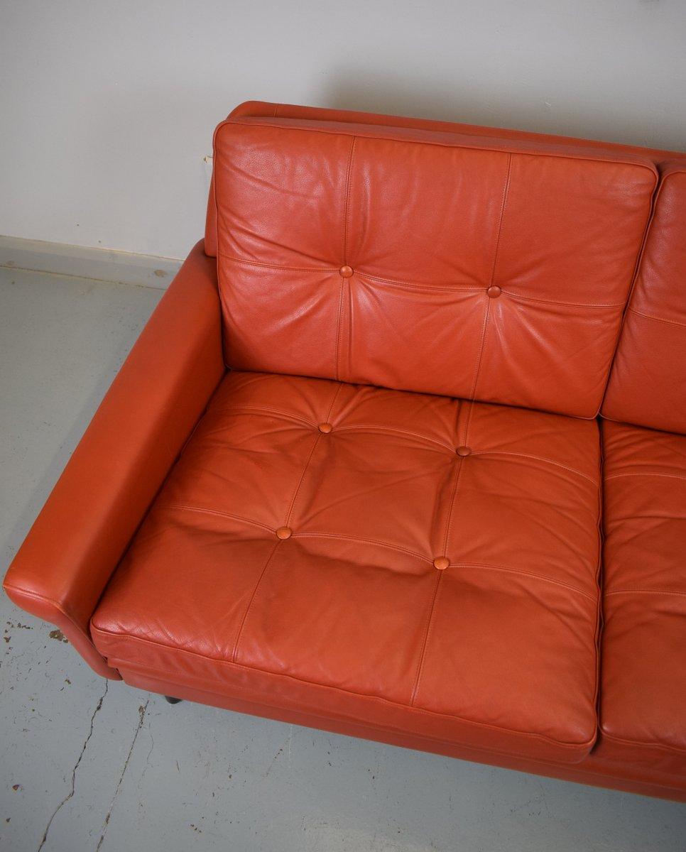 D nisches 2 sitzer sofa aus rotem leder von svend skipper f r skippers m bler 1960er bei pamono 2 sitzer sofa leder