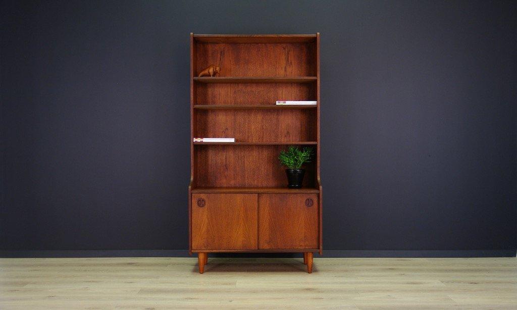 d nisches mid century b cherregal mit teak furnier bei pamono kaufen. Black Bedroom Furniture Sets. Home Design Ideas