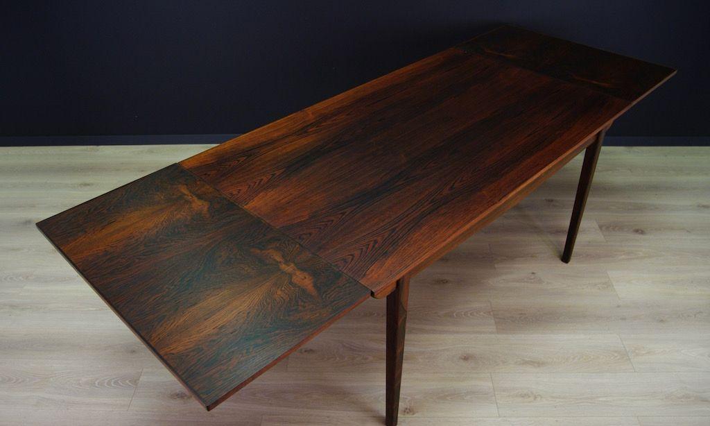 skandinavischer mid century tisch aus palisander bei pamono kaufen. Black Bedroom Furniture Sets. Home Design Ideas