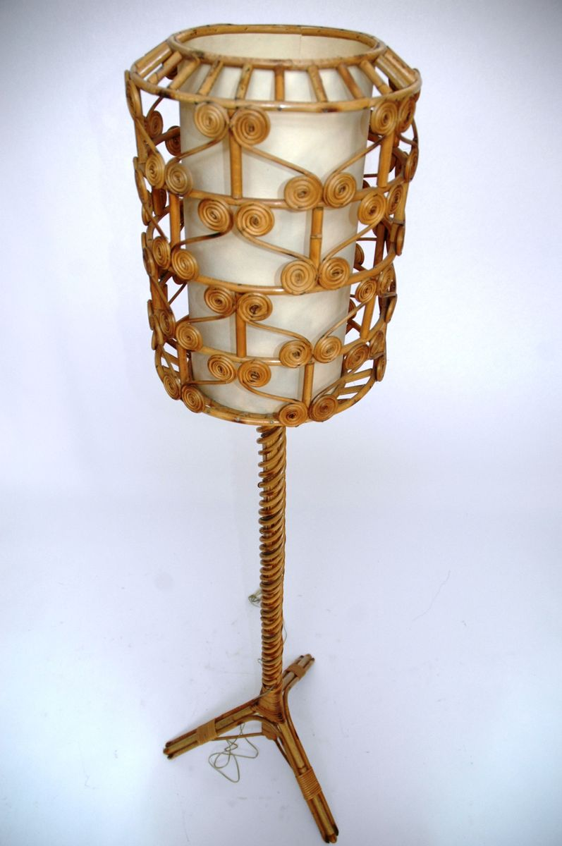 Vintage Rattan Floor Lamp For Sale At Pamono