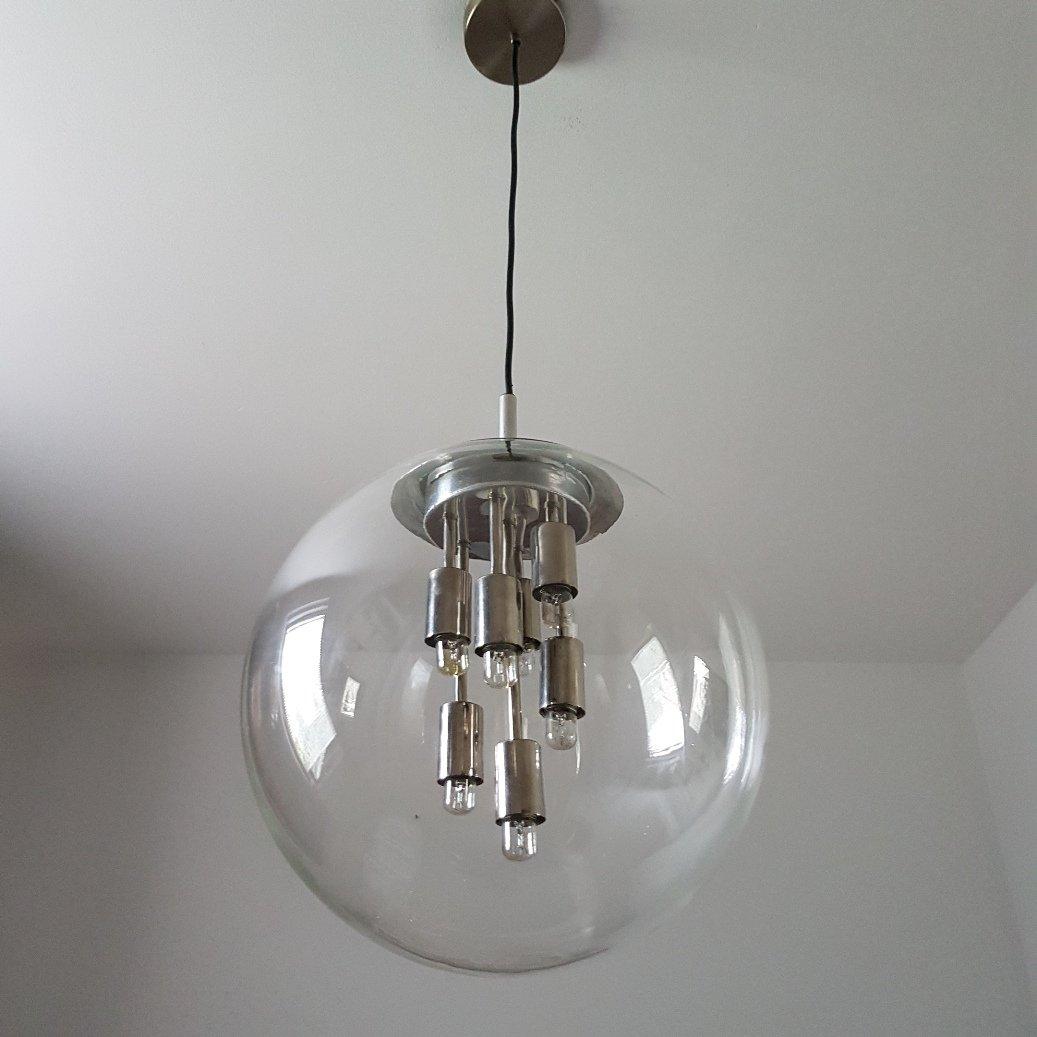 runde glas lampe von doria leuchten 1970er bei pamono kaufen