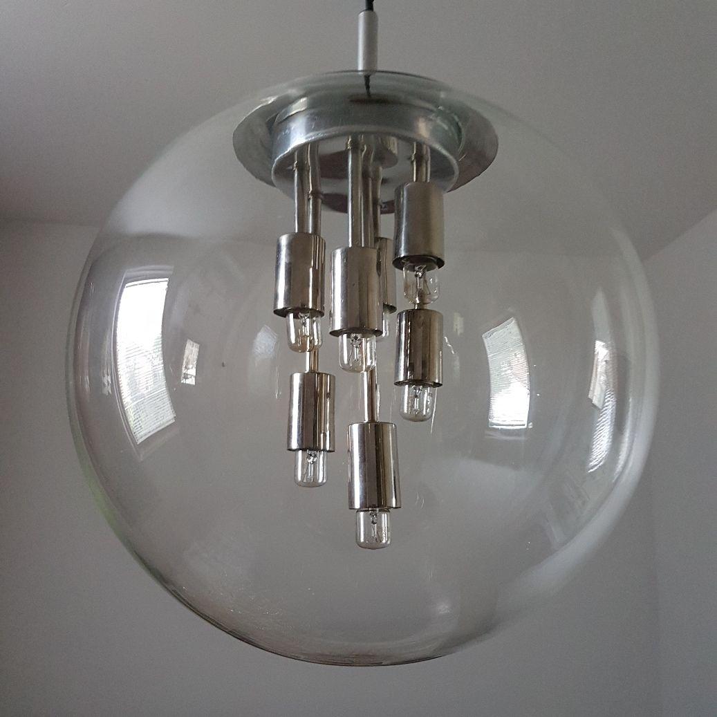 lampe globe en verre de doria leuchten 1970s en vente sur pamono. Black Bedroom Furniture Sets. Home Design Ideas