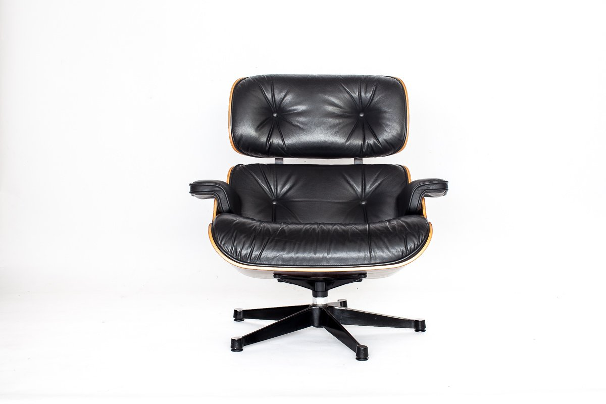 vintage eames lounge chair by charles ray eames for vitra for sale at pamono. Black Bedroom Furniture Sets. Home Design Ideas