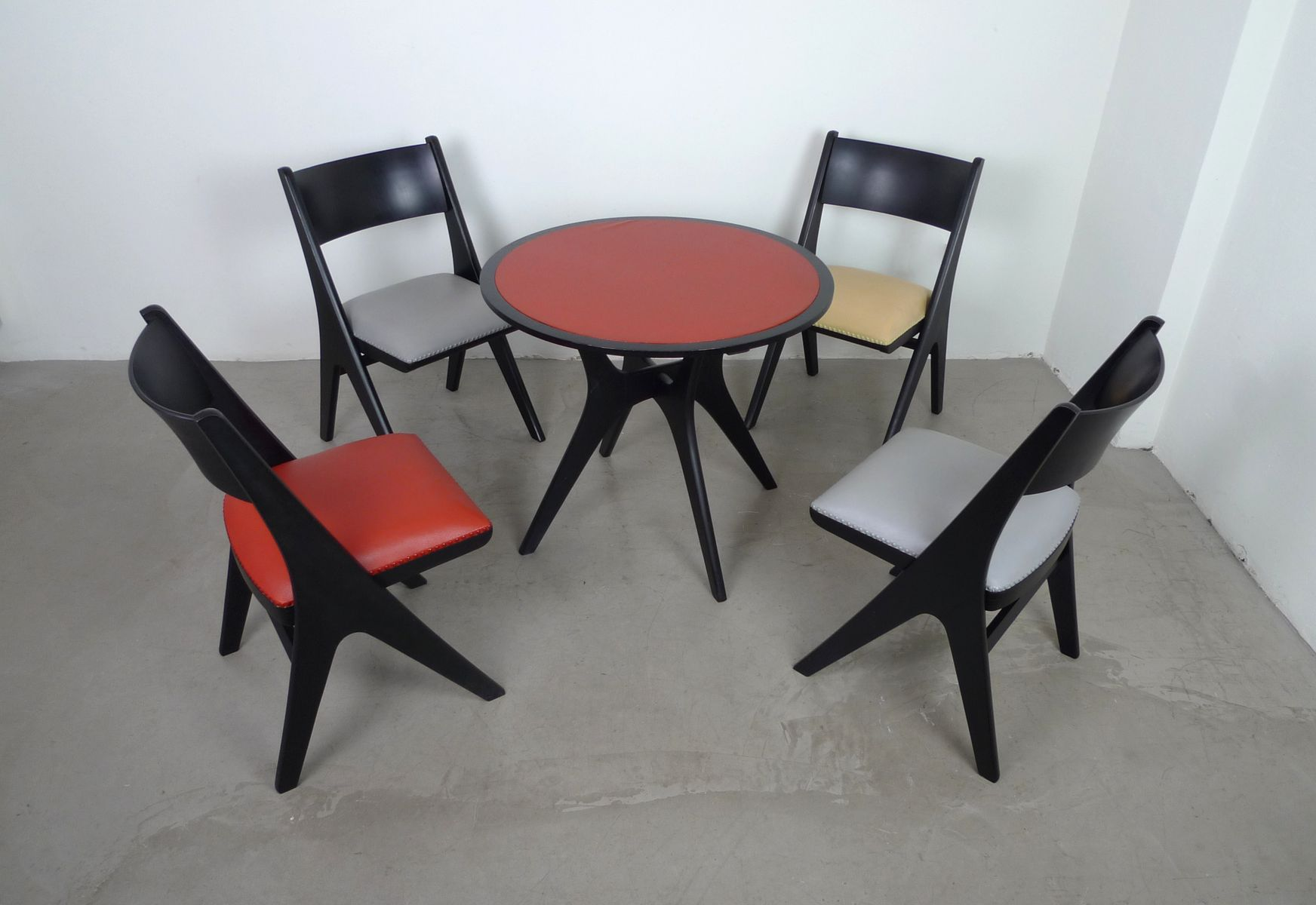 Dining Set with 4 Penguin Chairs by Carl Sasse for Casala  : dining set with 4 penguin chairs by carl sasse for casala 1950s 14 from www.pamono.com size 1744 x 1200 jpeg 102kB