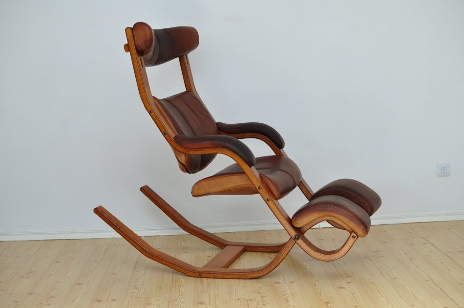 gravity balance armchair by peter opsvik for stokke 1980s for sale at pamono. Black Bedroom Furniture Sets. Home Design Ideas