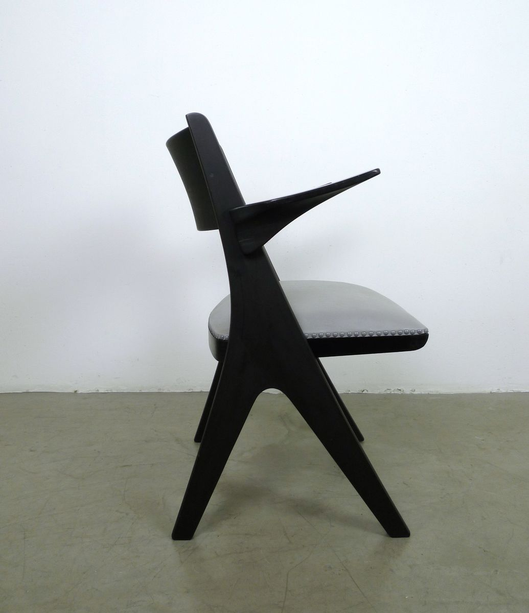 grauer sessel modell penguin von carl sasse f r casala 1950er bei pamono kaufen. Black Bedroom Furniture Sets. Home Design Ideas
