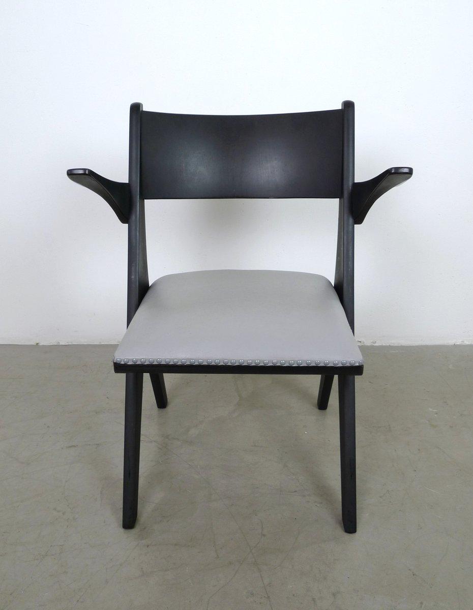grauer sessel modell penguin von carl sasse f r casala. Black Bedroom Furniture Sets. Home Design Ideas