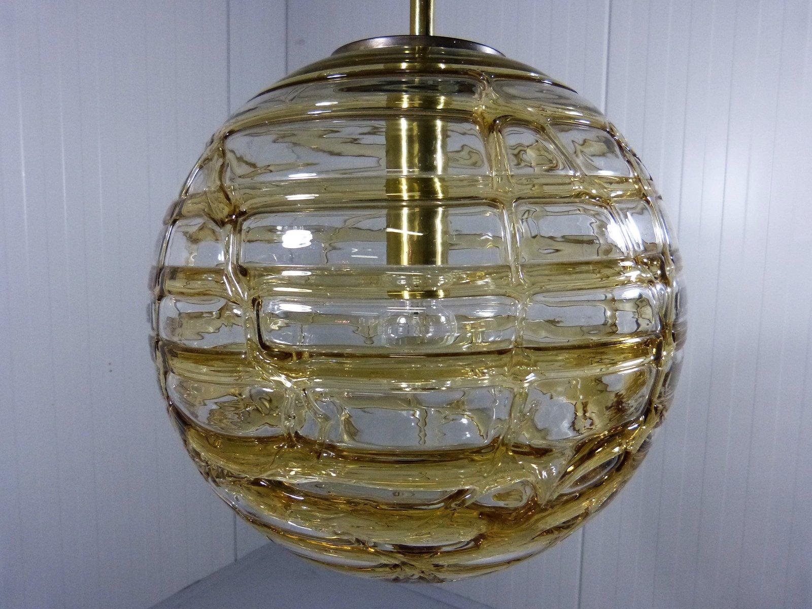 vintage glas h ngeleuchte von doria leuchten bei pamono kaufen. Black Bedroom Furniture Sets. Home Design Ideas