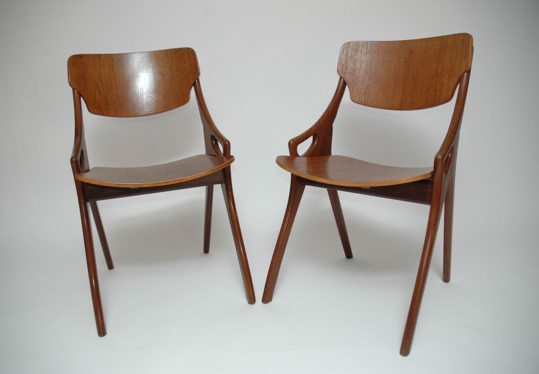 Mid Century Dining Chairs by Arne Hovmand Olsen for Mogens Kold