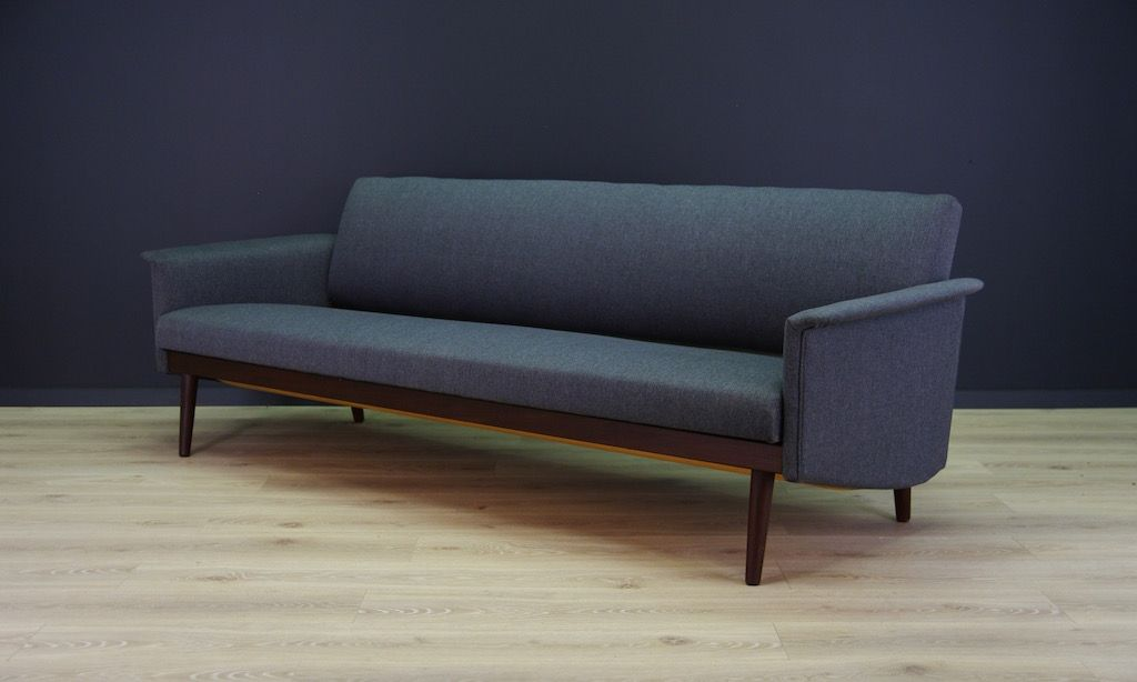 Vintage Danish Sofa Vintage Scandinavian Leather Oak Three