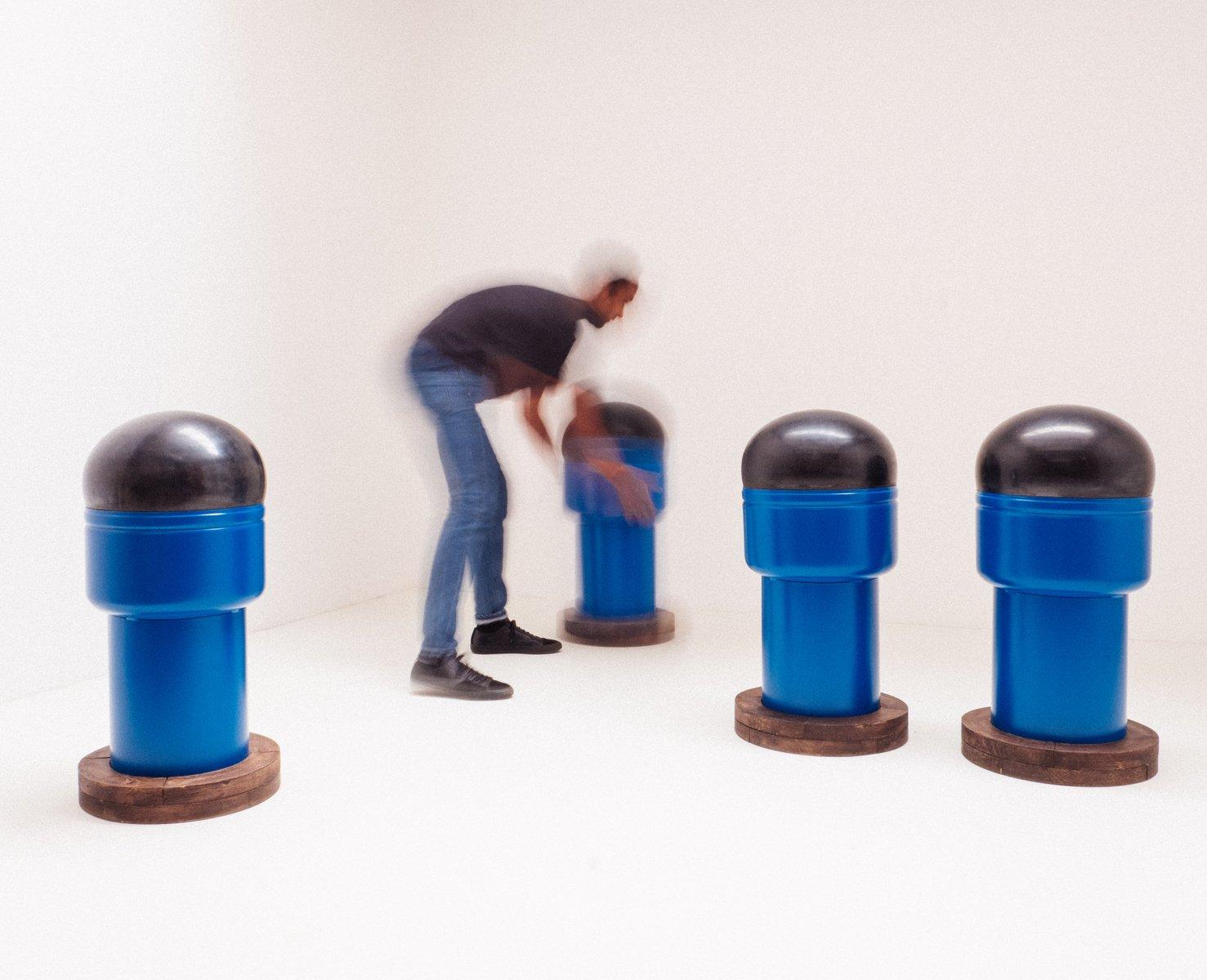 pop art barhocker 1968 4er set bei pamono kaufen. Black Bedroom Furniture Sets. Home Design Ideas