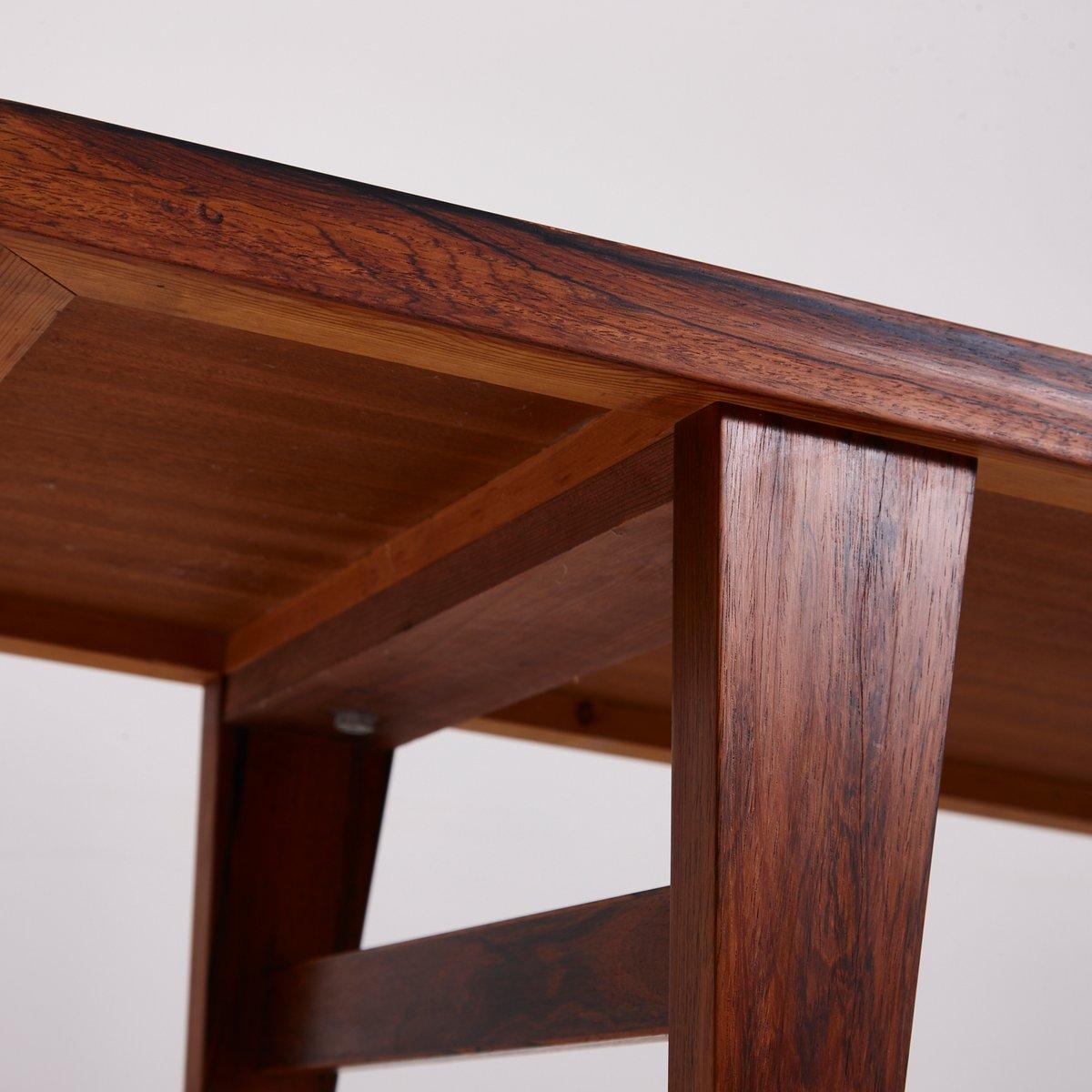 mid century couchtisch aus palisander mit schwarzer glas. Black Bedroom Furniture Sets. Home Design Ideas