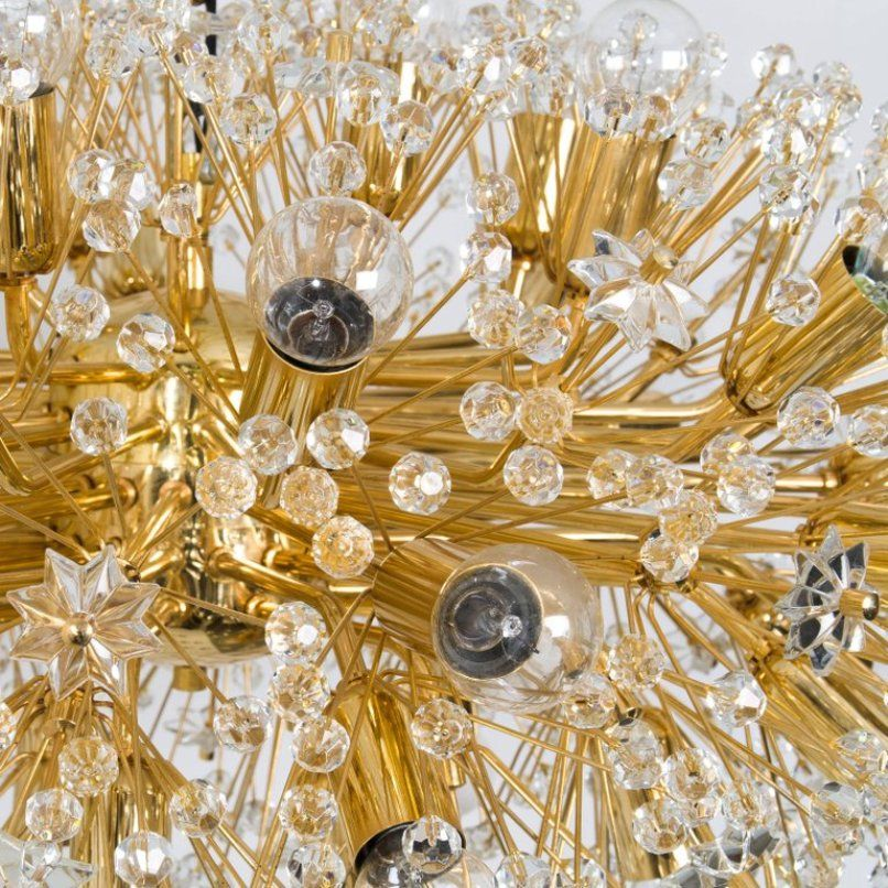 Large gold plated chandelier by emil stejnar for rupert nikoll price per piece mozeypictures Image collections